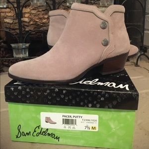 Sam Edelman Pacer Suede Booties size 7.5.